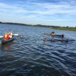 2e idrætshold på kanotur